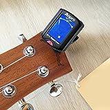Anpro JT-10 Clip-On Digital Tuner Stimmer + 12 x Plektrum Plektron Picks mit 3 verschiedene Stärken + 1 x Pickholder, Plektrumhalter für Gitarre, Violine, Ukulele, Chromatisches Stimmgerät - 2