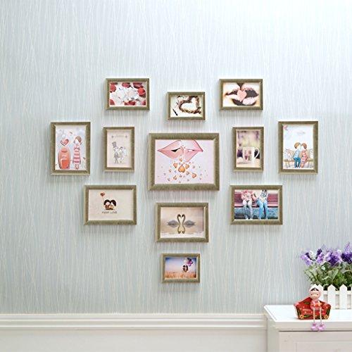 GAO JI FENG - PW 12 Polymer-Bilderrahmen-Wand-Galerie-Kit enthält: Kunst-Malerei-Kern, Rahmen, hängende Wand-Schablone