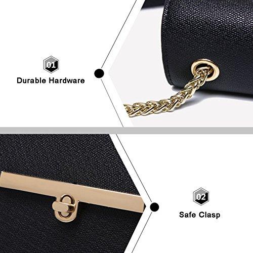 Yoome Street Style Flap Bag Elegante Piccola Catena Piccoli Borse Per Le Donne Nuove Borse Chic Impermeabili - Nero GreyBlue