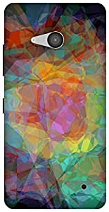 The Racoon Lean abstractism dark hard plastic printed back case / cover for Microsoft Lumia 550