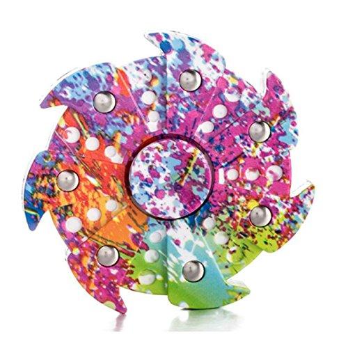 Preisvergleich Produktbild Stress Spinner Bunte Camo Fidget Tri Hand Spinning Finger Spielzeug Strumpf Stuffer für ADHS EDC Focus lindert Angst und Langeweile