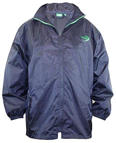 Duke Herren Kingsize Verpackbar Wetterbeständige Regenmantel Jacke Mit Tasche Blau - Blau