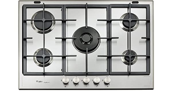 Whirlpool GMF 7522/IXL Hob - Plate (Built-in, Gas, Stainless Steel, Rotary, Top Front, 230 V)