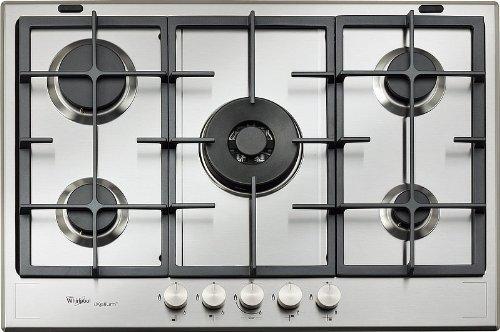 Whirlpool GMF 7522/IXL Plaque – Plaque (intégrée, gaz, acier inoxydable, rotatif, partie supérieure avant, 230 V)