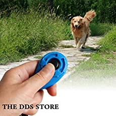 Pet Dog Training Clicker Big Button clicker with Wrist Band Strip for Clicker Training Professional Dog Cat Bird Puppy Pet Training Clickers, 1 Piece - Color May Vary