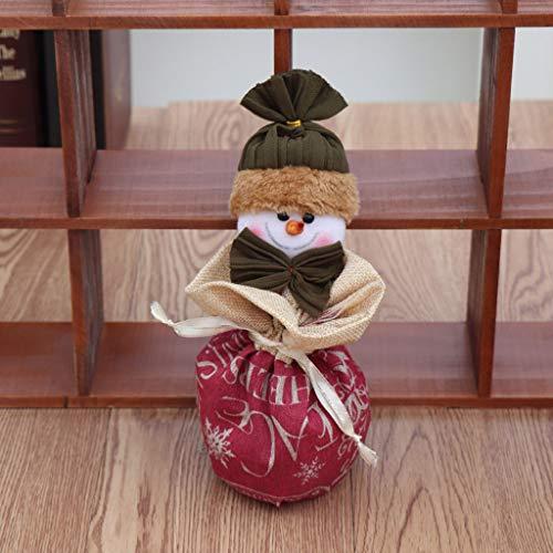 vijTIAN - Carinissima Carta per Caramelle per Bambini, Babbo Natale, Pupazzi di Neve, alci, Natale, Caramelle, Decorazione per evidenziare l'atmosfera Festiva R