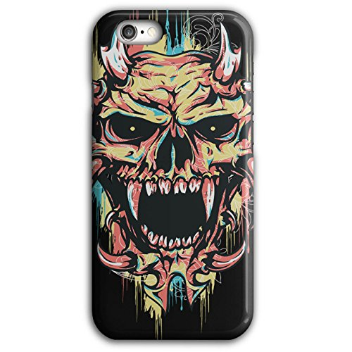 Kostüm Unheimliche Teufel - Wellcoda Satan Teufel Unheimlich Schädel Hülle für iPhone 6 Plus / 6S Plus Dämon Rutschfeste Hülle - Slim Fit, komfortabler Griff, Schutzhülle