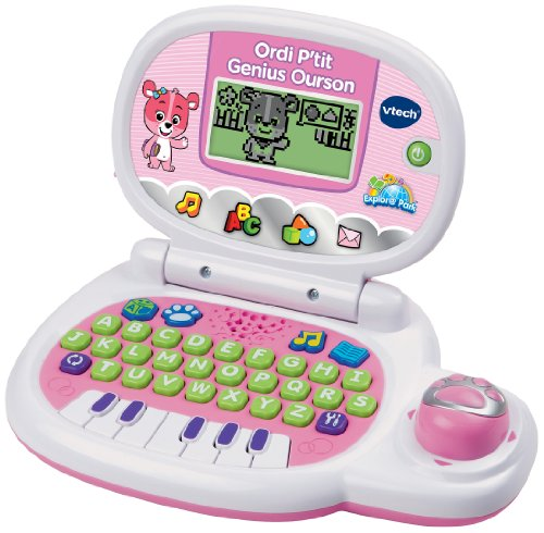 Vtech - 139555 - Jeu électronique - Ordinateur P'tit - Genius Ourson - Rose 3417761395554