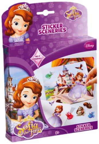 Totum Disney´s Sofia die Erste Sticker-Set  – großes Aufkleber-Set, bestehend aus Motivkarten mit Stickern zum Selbergestalten von Szenen, Geschenk für Mädchen