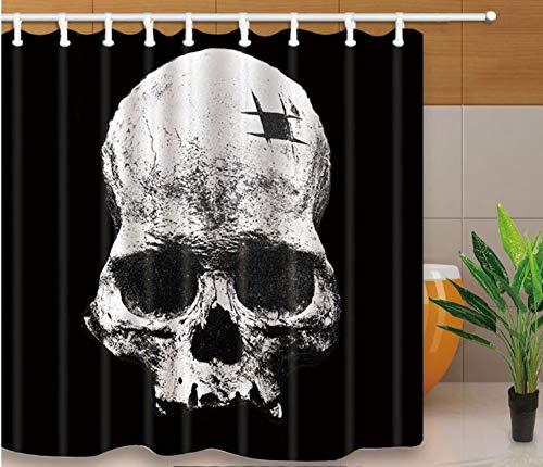 SFQAZW Tenda da Doccia Nera Tenda da Doccia Personalizzata Tenda da Bagno Personalizzata Tenda da Bagno Personalizzata (W) 150x(H) 180cm