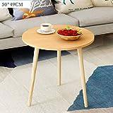 Rright! MDF Round Side/Kaffee / Esszimmer/Lampe / Beistelltisch Massivholz Beine,C