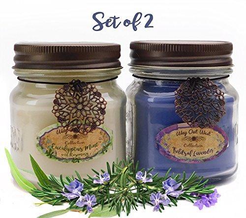 (Way Out  West Kerze, Purple/Fields of Lavender & White/Eucalyptus Mint, Stück: 2)