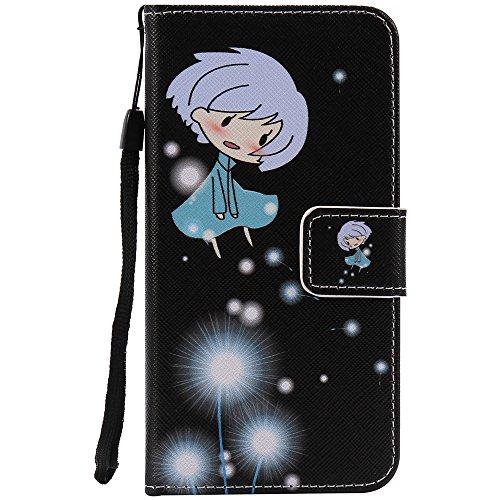 C-Super Mall-UK Apple iPhone 7 Plus hülle, Qualität PU-Leder Brieftasche Stehen Flip hülle für Apple iPhone 7 Plus Dandelion girl