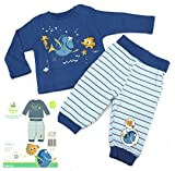heimtexland Disney Baby Hausanzug in blau Gr. 62-68 Schlafanzug Findet Nemo Dorie Jungen Pyjama 2-teilig dunkelblau 100% Baumwolle hautfreundlich Ökotex geprüft Typ512