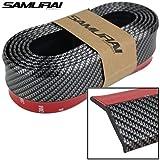 THE.Samurai Black Carbon Fiber Car Body Kit Bumper Lip Side Skirt Rubber Edge Decorative Protector