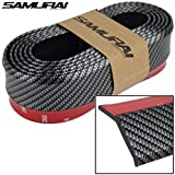 THE.Samurai Black Carbon Fiber Car Body Kit Bumper Lip Side Skirt Rubber Edge Decorative Protector