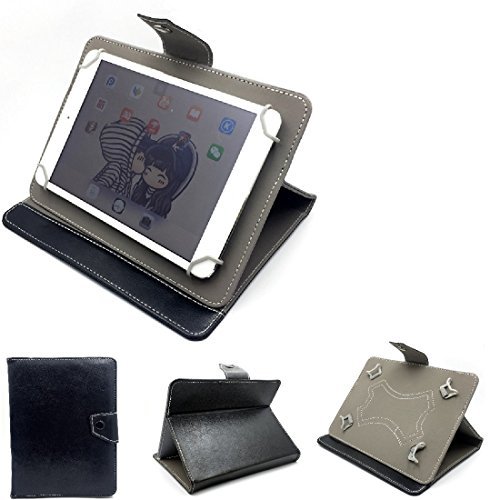 Schutz Hülle Tablet Case für Samsung, Apple, odys, i-onik, Allview, Hisense, ACER, Xoro, Telekom, Intenso, Asus, Huawei, Amazon , schwarz. Tablet Hülle mit Standfunktion Ultra Slim Bookstyle T