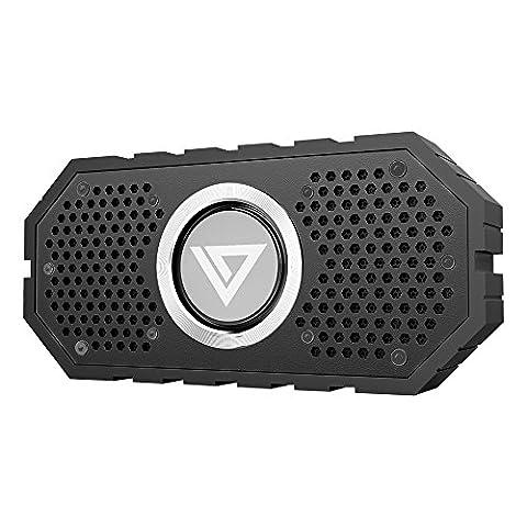 Enceinte Bluetooth Portable, Collen mini Haut-Parleur Étanche Sans fil pour Bicycle, Randonnée, Sport extérieur compatible avec iPhone, Samsung, iPad, Tablettes et autre (Noir)