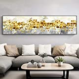 Yolada Pittura Diamante,Grandi,Trapano Completo, 5D Abstract Golden Tree Flowing Diamond Coin Mosaico da Ricamo Diamond Painting Kits Full Drill Decor per Casa e Pareti,Trapano Quadrato,60x120cm