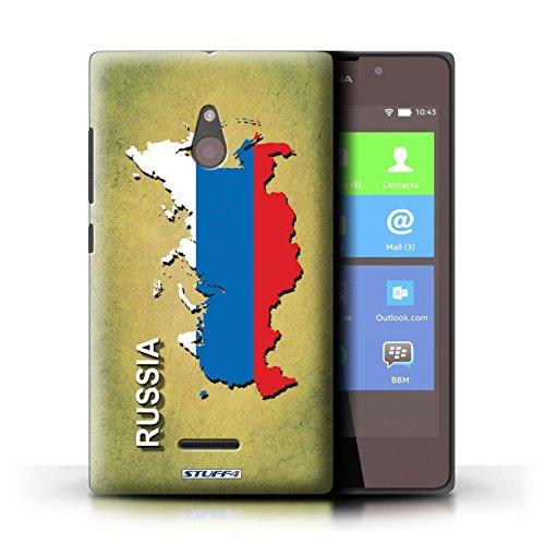 Kobalt® Imprimé Etui / Coque pour Nokia XL / Suède/Suédois conception / Série Drapeau Pays Russie/Russe