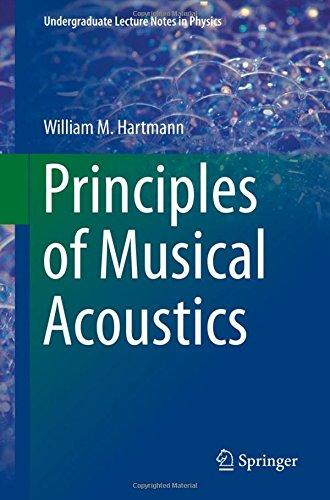 Principles of Musical Acoustics (Undergraduate Lecture Notes in Physics) por William M. Hartmann