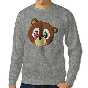 kK Men's Kanye Bear Classic Sweatshirt Ash