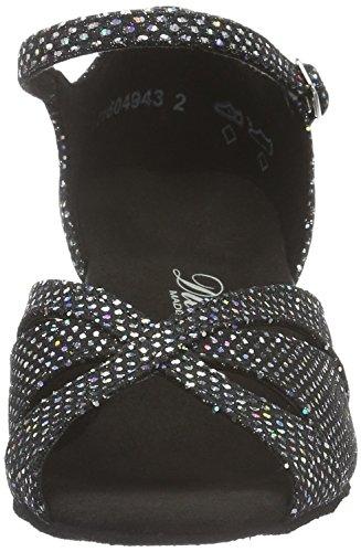Diamant - Damen Tanzschuhe 144-011-183, Scarpe da ballo Donna Nero (Blk/gry 231)