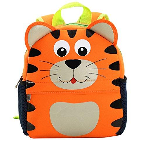 Yeelan Impermeabile sacchetto di scuola - zaino per i bambini (Tiger)
