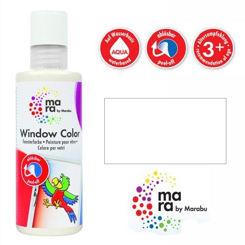 mara by Marabu Window Color, 80 ml, wei VE = 1