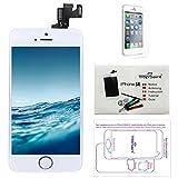 Trop Saint® Display Weiß LCD Für iPhone SE Bildschirm Komplett mit Magnetische Schraubekarte, Werkzeug, Anleitung und Bildschirmschutzfolie