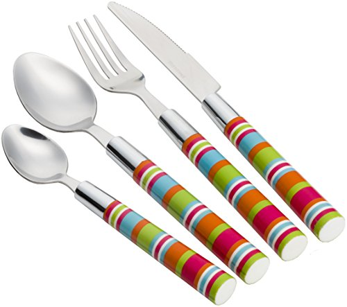 flamefield-unisex-camper-smiles-16-piece-stripe-cutlery-set-multicoloured