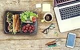 matana 100% auslaufsicher Mahlzeit Prep Container, 3teilige, Lunch-Boxen/Storage mit sicheren Deckel stapelbar–Gefrierschrank, Geschirrspüler und Mikrowelle geeignet, 12er-Pack
