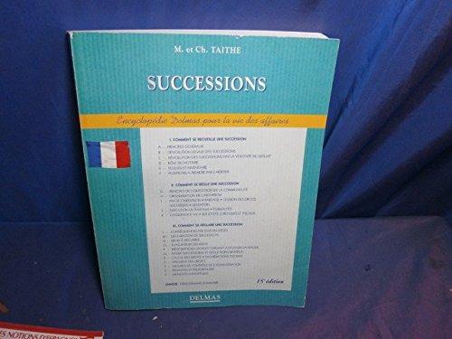 LES SUCCESSIONS. 15ème édition