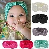 "Voberry Baby-Girl's Knitting Headwrap Headdress Soft Turban Headbands 38 * 7.5/14.6 * 2.9"" Hot Pink"