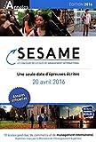 Concours Sesame annales 2016 - Sujets et corrigés officiels