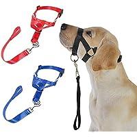 LA VIE Bozal de Entrenamiento Ajustable para Mascota Perro Bozal de Nylon Seguridad Cómodo Dog Muzzel Multi-tamaño Ofrece un Placa de Identificación para Mascotas Bozal XL Negro
