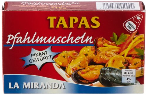 La Miranda  Pfahlmuscheln in pikanter Sauce, 12er Pack (12 x 115g)
