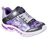 Skechers Mädchen Litebeams-Dance N'Glow Sneaker, Schwarz (Black/Lavender), 34 EU