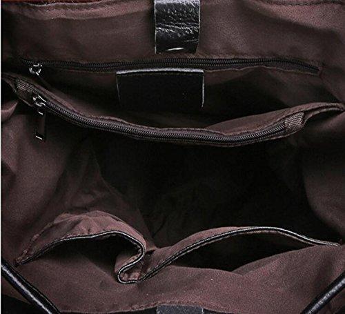 DJB/echt Leder Handtasche Schultertasche College Wind Rucksack-Tasche Schwarz