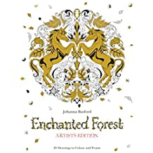 Enchanted Forest Artist's Edition: A Pull-Out and Frame Colouring Book by Johanna Basford (2016-03-28)