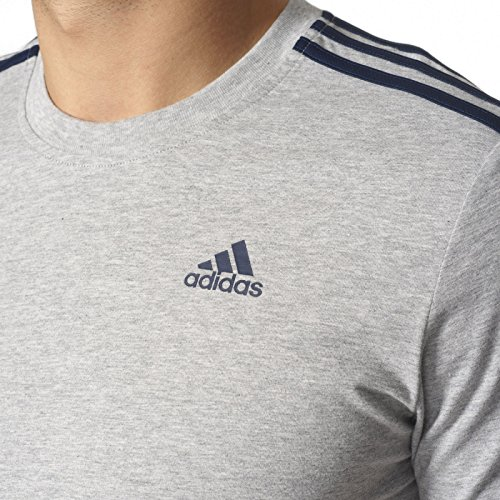 Adidas Ess 3S Tee T Shirt, Herren Medium Grey Heather
