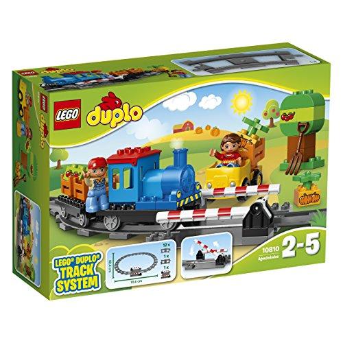 LEGO Duplo Town - Tren, Juguete de Construcción de Trenes para los más Pequeños, Incluye MiniFiguras del Maquinista y un Conductor (10810)