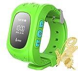 ILOV Smart Armbanduhr GPS Tracker Verfolger JM11 für Kinder Locater SOS Sprachmonitor (Grün)