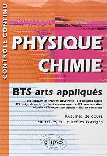 Physique Chimie BTS Arts Appliqués