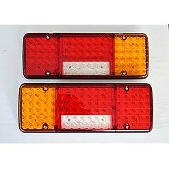 Luci posteriori a LED, 12V, 5funzioni, design ultra sottile, per camion, rimorchio, ribaltabile, autocarro, camper ecc., 2 pezzi