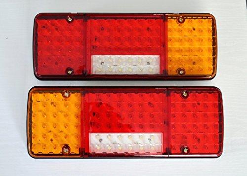 2x arrière 12V LED 5Fonctions Design ultra fin pour camion remorque basculant pour châssis LKW pour caravane Camion Camper