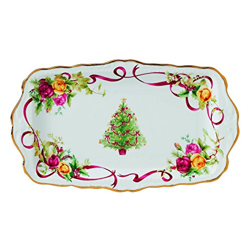 Rose Sandwich Tray (Old Country Roses Christmas Tree Sandwich Tray by Royal Albert)