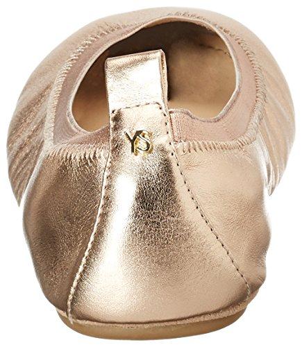 Yosi Samra Samara Metallic Flat 2.0 W, Ballerines femme Pink (Rosegold)