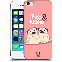 Funda con pareja pug para Apple iPhone 5 5s