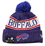 New Era NFL Sideline Bobble Knit 2018/2019 Season Beanie (Buffalo Bills)